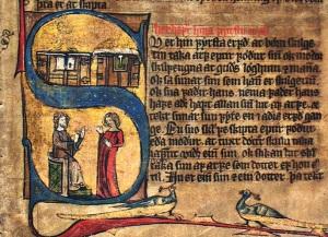 Hardenbergs codex fol 26r (kister og stol, kistene symboliserer arv)