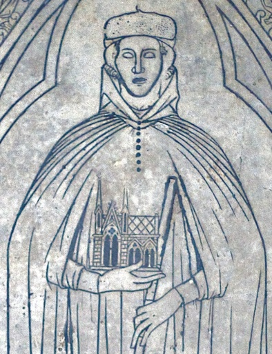 Pierre tombale de Hugues Libergier