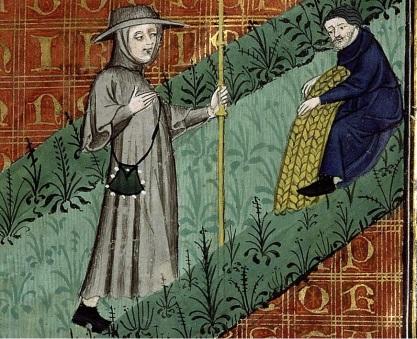 f. 44r Guillaume Digulleville and Toil Bibl. Sainte-Geneviève - ms. 1130
