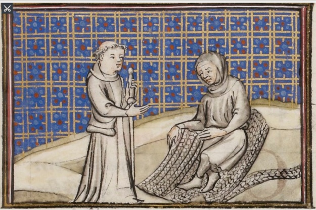 f. 57r, Guillaume Digulleville, and Toil