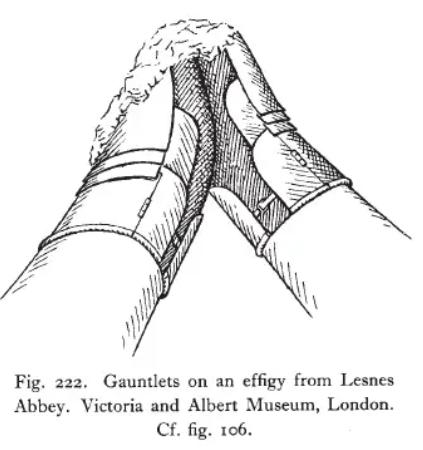 Lesnes Abbey gauntlet