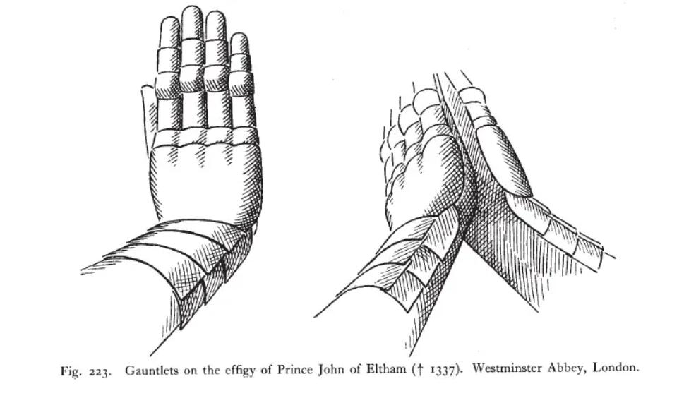 platehansker john av Eltham d 1337 fra Thordeman