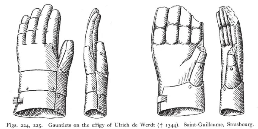 platehansker Ulrich de Werdt d 1344 fra Thordeman